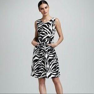 Kate Spade Jillian Zebra Bow Linen Dress NWT